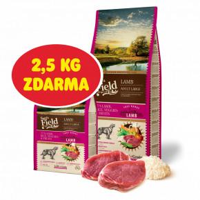 Sam's Field Low Grain Adult Large Lamb - Free Range, superprémiové granule pro dospělé psy velkých a obřích plemen s jehněčím z volného chovu, 13kg (Sams Field bez pšenice)