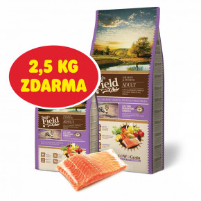 Sam's Field Low Adult Salmon & Potato, hypoalergenní superprémiové granule pro dospělé psy všech plemen, 13kg (Sams Field bez pšenice)