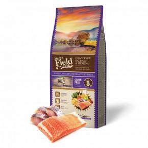 Sam's Field Grain Free Salmon & Herring, superprémiové granule, 13kg (Sams Field bez obilovin)