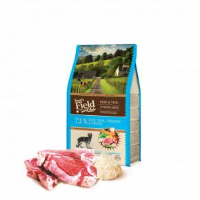 Sam's Field Gluten Free Beef & Veal Junior Large, superprémiové granule pro štěňata a mladé psy velkých a obřích plemen, 2,5kg (Sams Field bez lepku)