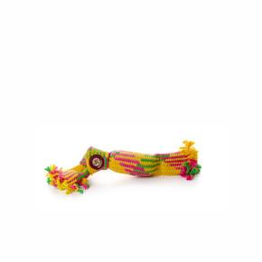 Bavlněný pískací uzel 30cm, bavlněná hračka
