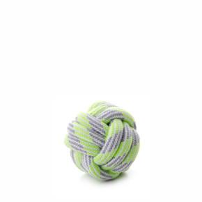 Bavlněný proplétaný míč zelený, bavlněná hračka