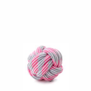 Bavlněný proplétaný míč růžový, bavlněná hračka