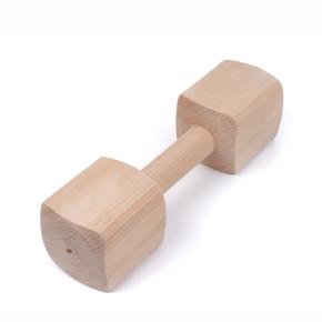 Aportovací dřevěná činka 1000g, hračka