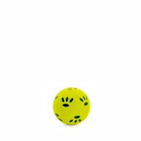 Gumový žlutý míček - tlapky 4,7 cm, gumová hračka