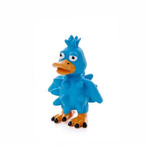 Latexová kachna s bodlinami, modrá, pískací hračka pro psy, 13cm, ideální pro aktivní hru