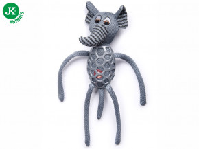 JK ANIMALS Slon s dlouhýma nohama, látková pískací hračka sTPR prvky | © copyright jk animals, všechna práva vyhrazena