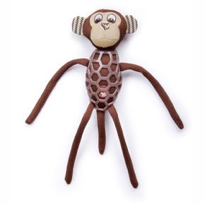 Opice s dlouhýma nohama, látková pískací hračka sTPR prvky
