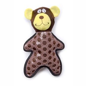 Medvěd, nylonová pískací hračka sTPR prvky