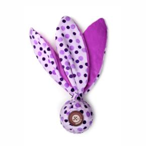 TPR míček, fialová plyšová pískací, šustící hračka