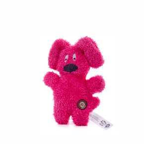 Jemný plyšový pejsek, pískací hračka pro psy a štěňata, červená, 24cm, v pestrých barvách