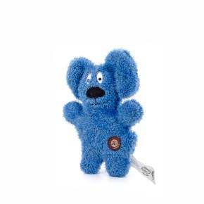 Jemný plyšový pejsek, pískací hračka pro psy a štěňata, modrý, 24cm, v pestrých barvách