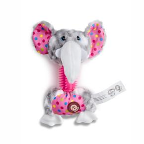 Plyšový slon s TPR krkem, plyšová pískací hračka