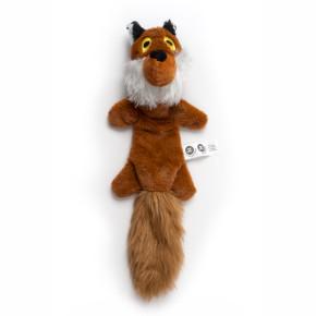 Plyšová liška, plyšová pískací hračka
