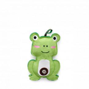 Žába, pískací hračka z pevné textilní látky, 17cm