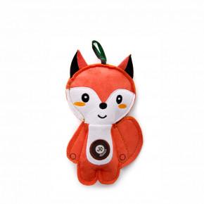 Liška, pískací hračka z pevné textilní látky, 19cm