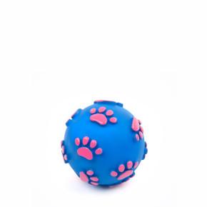 Vinylový míč tlapky 6 cm, vinylová (gumová) hračka