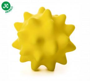 JK ANIMALS Vinylový míč s bodlinami žlutý | © copyright jk animals, všechna práva vyhrazena