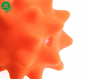 JK ANIMALS Vinylový míč s bodlinami oranžový   © copyright jk animals, všechna práva vyhrazena