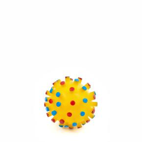 Vinylový míč s bodlinami, pískací hračka pro psy, 7cm, ideální pro aktivní hru