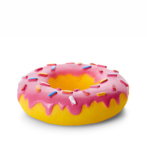 Vinylový donut XL, pískací hračka pro psy, 14cm, ideální pro aktivní hru
