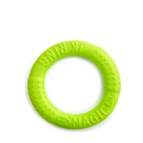 JK Magic Ring z EVA pěny, hračka pro psy na házení, zelená, 17cm, ideální pro aktivní hru