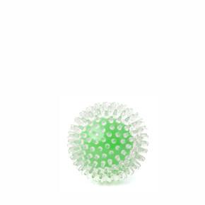TPR míč s bodlinami zelený, odolná (gumová) hračka ztermoplastické pryže