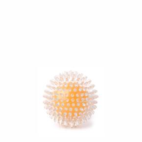 TPR míč s bodlinami žlutý, odolná (gumová) hračka ztermoplastické pryže