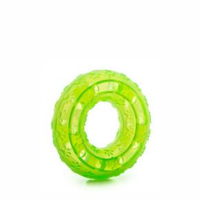 TPR – kruh zelený, odolná (gumová) hračka ztermoplastické pryže