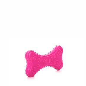 TPR - Růžová kost, odolná (gumová) hračka ztermoplastické pryže