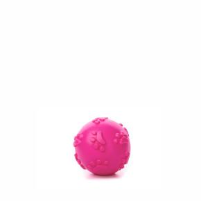 TPR - Růžový pískací míček tlapky, odolná (gumová) hračka ztermoplastické pryže