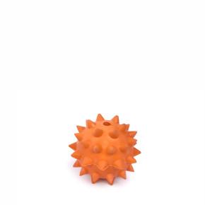 Míč ježek 6 cm, odolná (gumová) hračka z tvrdé gumy