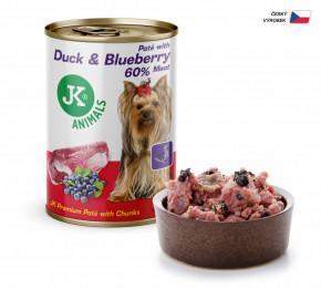 JK ANIMALS Duck & Blueberry, Premium Paté with Chunks | © copyright jk animals, všechna práva vyhrazena
