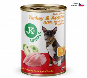 JK ANIMALS Turkey & Apple, Premium Paté with Chunks | © copyright jk animals, všechna práva vyhrazena