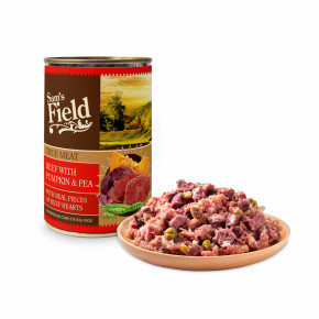 Sam's Field True Beef Meat with Pumpkin & Pea, superprémiová konzerva, 400 g (Sams Field)