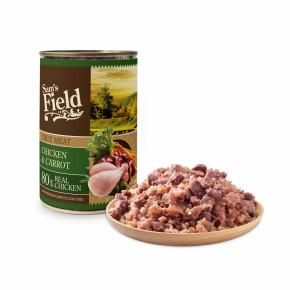 Sam's Field True Chicken Meat & Carrot, superprémiová konzerva, 400g (Sams Field)