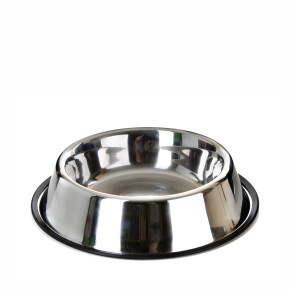 Nerezová miska pro psy, 2,2l, 25cm, dlouhá životnost a odolnost