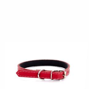 Kožený obojek JK Classic červený