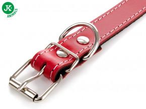 JK ANIMALS Kožený obojek JK Classic červený | © copyright jk animals, všechna práva vyhrazena