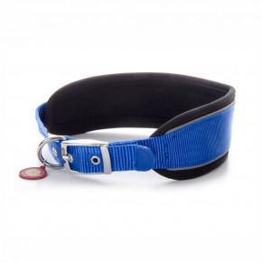Nylonový obojek Comfort směkkou výztuhou XL, 7,6×51–60cm, modrý