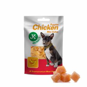 Kuřecí mini kostky pro štěňata, masový pamlsek, 50g (Puppies Chicken Mini Cubes Meat Snack)