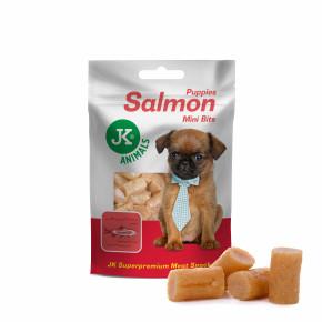 Lososové mini kousky pro štěňata, masový pamlsek, 50g (Puppies Salmon Mini Bits Meat Snack)