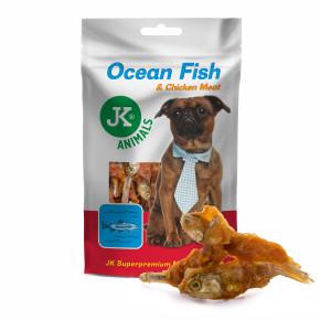 Mořská ryba s kuřecím masem, masový pamlsek, 80g (Ocean Fish with Chicken Meat Snack)
