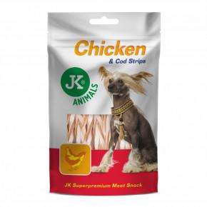 JK ANIMALS Meat Snack Chicken And Cod Strips | © copyright jk animals, všechna práva vyhrazena