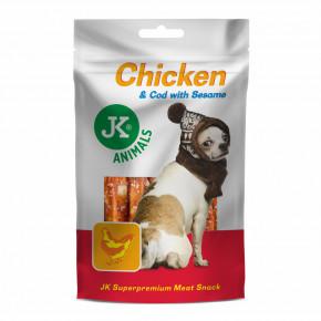 JK ANIMALS Chicken & Cod With Sesame, sušené kuřecí maso s treskou a sezamem | © copyright jk animals, všechna práva vyhrazena