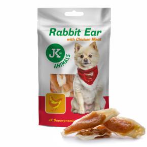 Králičí uši s kuřecím masem, masový pamlsek, 80g (Rabbit Ear with Chicken Meat, Meat Snack)