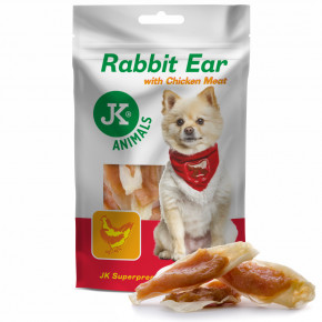 JK ANIMALS Meat Snack Rabbit Ear with Chicken Meat, masový pamlsek | © copyright jk animals, všechna práva vyhrazena