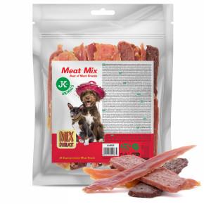 Mix nejlepších masových pamlsků, kuřecí a kachní maso, jehněčí a králičí filety, 500g (Mix Meat Snack)