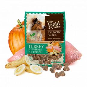Sam's Field Crunchy Cracker Turkey with Pumpkin & Parsnip, křupavý krůtí pamlsek sdýní a pastinákem pro psy, 200g (Sams Field masový pamlsek)