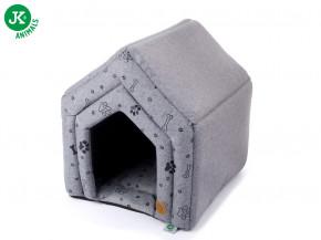 JK ANIMALS pelech domek Grey LUX M | © copyright jk animals, všechna práva vyhrazena